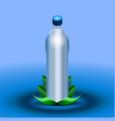 Isolated minteral water bottle vector