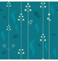 Underwater seamless pattern vector