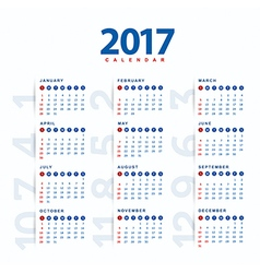 2017 calendarmodern and simple calendar 2017 vector