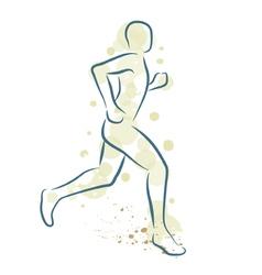 Runner man vector image