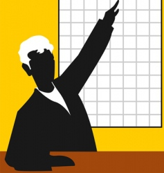 Man and chart vector
