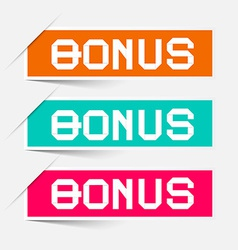 Bonus labels - stickers set vector
