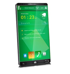 Mobile phone with thin display bezel vector