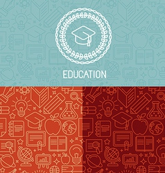 educational logo design vector image