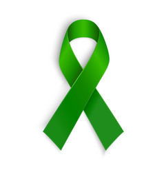 Green ribbon scoliosis mental health and other vector