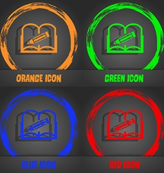 Book sign icon open book symbol fashionable modern vector