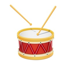 Drum music instrument vector