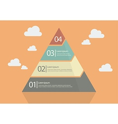 Four step pyramid diagram vector