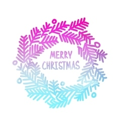 Neon bright square design with gradient christmas vector