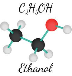 C2h5oh ethanol molecule vector