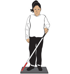 Blind woman vector