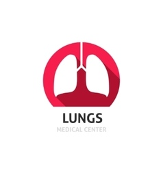 Lungs logo template isolated on white vector
