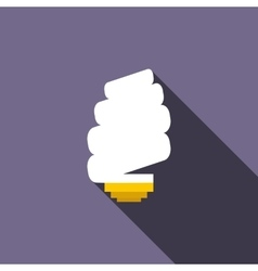 Spiral light bulb icon flat style vector