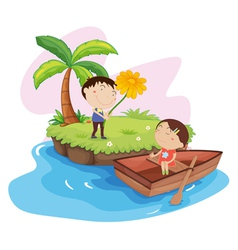 Couples island holiday vector