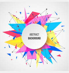 Abstract background template vector
