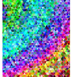 Abstract multicolored triangle tile background vector image vector image