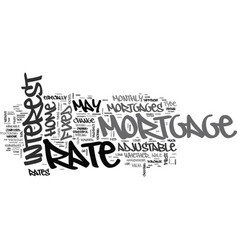 Adjustable rate mortgages vs fixed rate mortgages vector