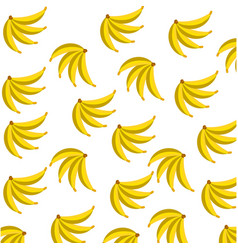 banana fruit food seamless pattern vector image