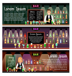 Bar banners set vector