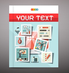 Brochure - Business Book Cover Design vector image vector image