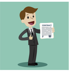 businessman or manager has a lot of jobs job is vector image