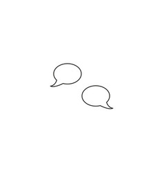 chat line icon vector image