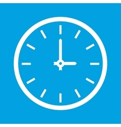 Clock white icon vector image vector image