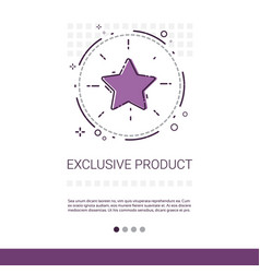 Exclusive product shopping banner with copy space vector