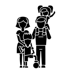 family father mother son icon vector image vector image