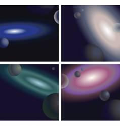 galaxies vector image vector image