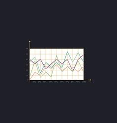 graphs computer symbol vector image vector image