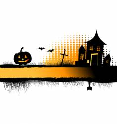 halloween night frame vector image vector image