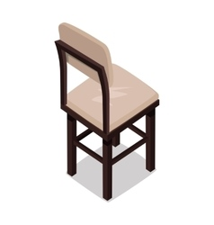 Isometric wooden kitchen chair vector