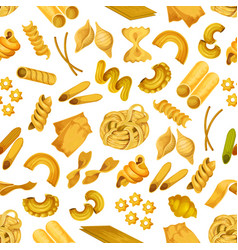 Italian pasta seamless pattern background vector