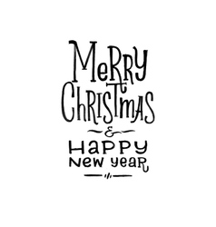 Merry Christmas Happy New Year Retro Poster vector image