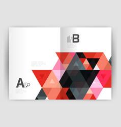 Modern business brochure or leaflet a4 cover vector