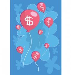 money-balloon-float vector image