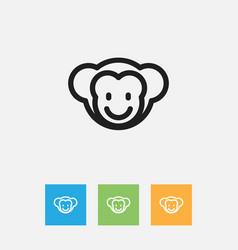 of animal symbol on baboon vector image