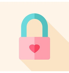 Padlock with heart vector