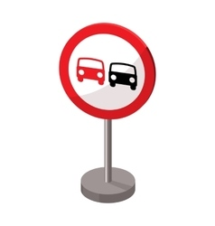 Prohibitory road sign icon in cartoon style vector image vector image