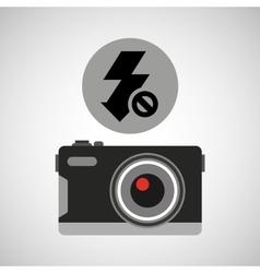 retro camera photographic no flash vector image