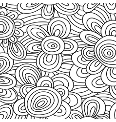 Seamless floral monochrome pattern For vector image