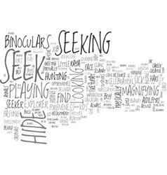 Seeking word cloud concept vector