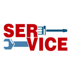 Service with a tool vector