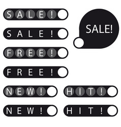 stickers sale free new hit label vector image vector image