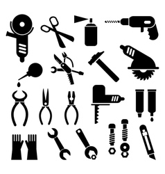 work tool icons vector image