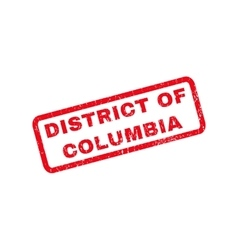 District of columbia rubber stamp vector