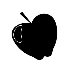 Apple taste fruit nature silhouette vector