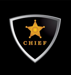Chief badge vector