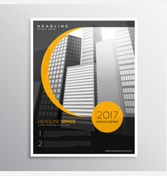 Business magazine cover template design vector